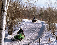 Snowmobiling in Barron County, Wi